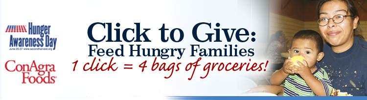 Click to Give. Feed Hungry Families